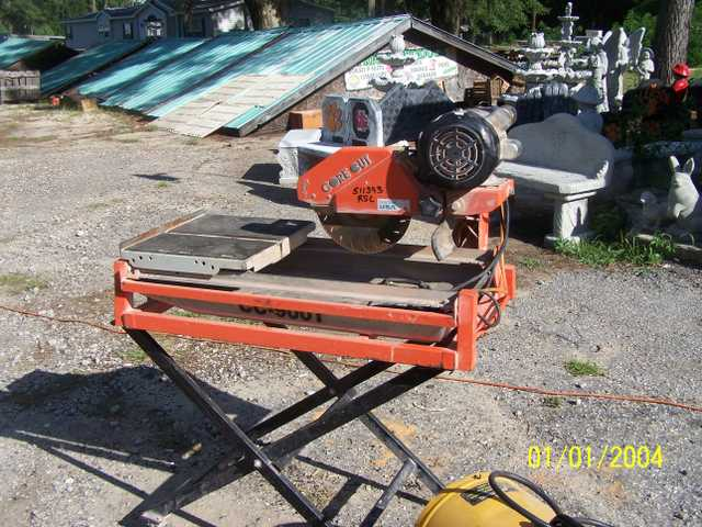 Cord Cut Concrete - Tile Saw W / Stand