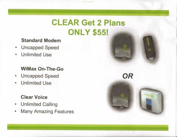 Clear Wireless Internet And Phone 4g