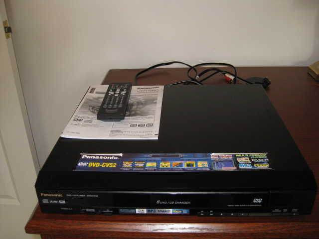 Panasonic Dvd / Cd Multidisc Player - $30