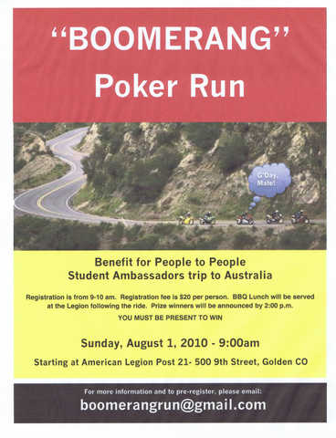 Benefit Poker Run
