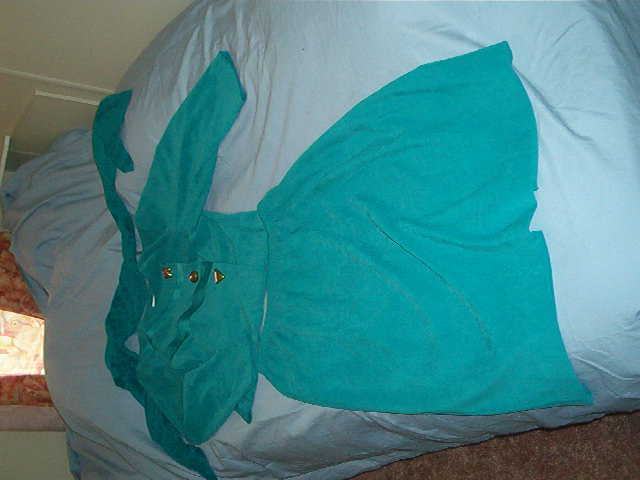 Ladies Green Skirt Suit