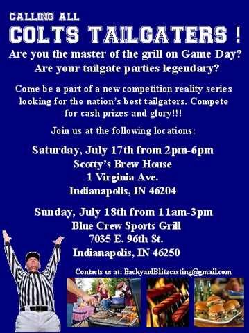 Looking For Colts And Tailgating Fans.