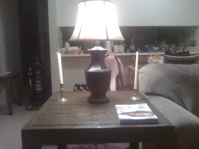 Wooden Hand Made Living Room End Table, (New) $65.00