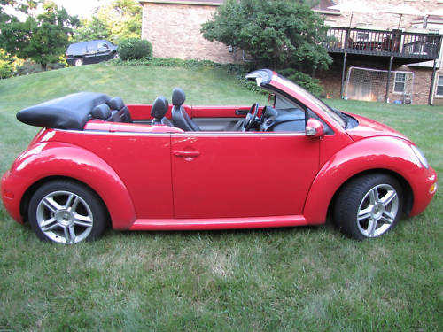 2004 Volkswagen Beetle Red W Black Top