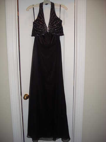 Black Jeweled Prom / Pageant Dress