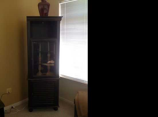 Black Antiqued Storage Cabinet