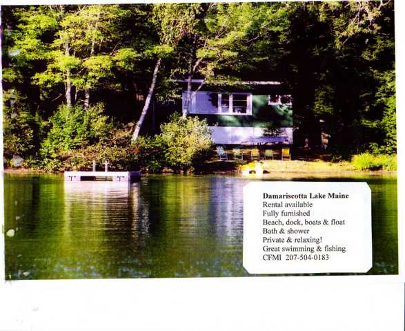 Damariscotta Lakeside Cottage $800 Per Week