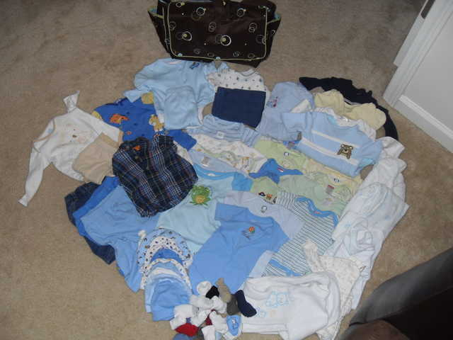 Baby Boy Lot 6 - 9mon And Diaper Bag
