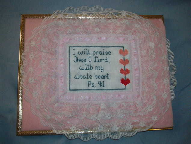 I Will Praise Thee O Lord Cross Stitch Picture