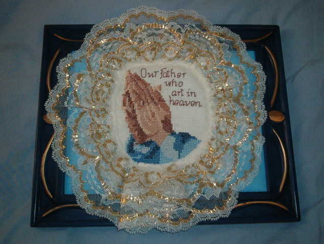Praying Hands Cross Stitch Picture