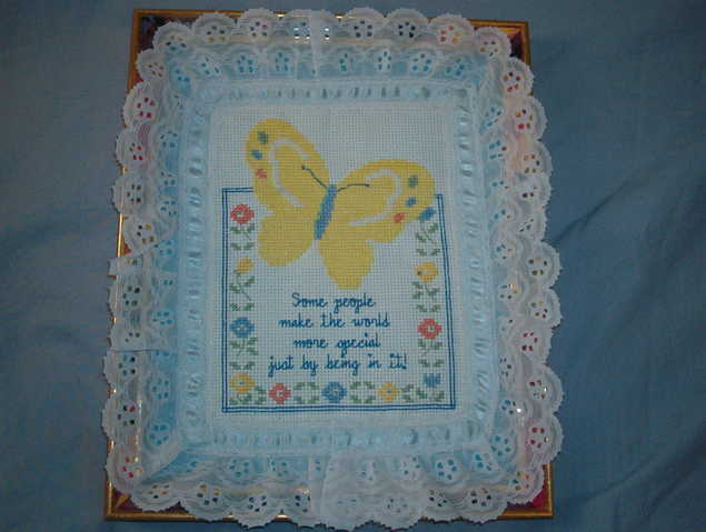 Butterfly Cross Stitch Picture