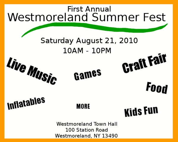 Westmoreland Summer Fest Needs Vendors, Crafters