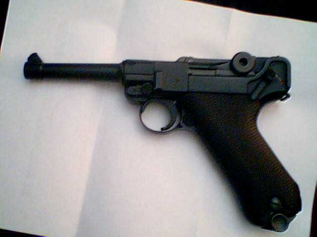 Full Auto Luger Gas Air Soft Gun, Full Metal