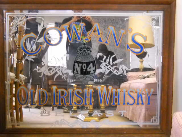 Cowan's Old Irish Whisky Mirror