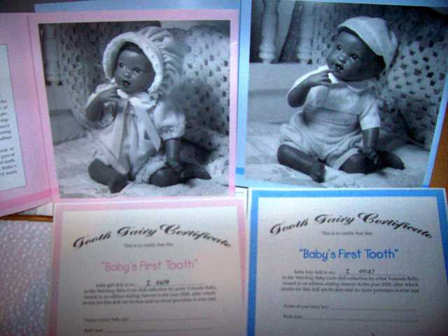 Porcelain Baby First Tooth Twins