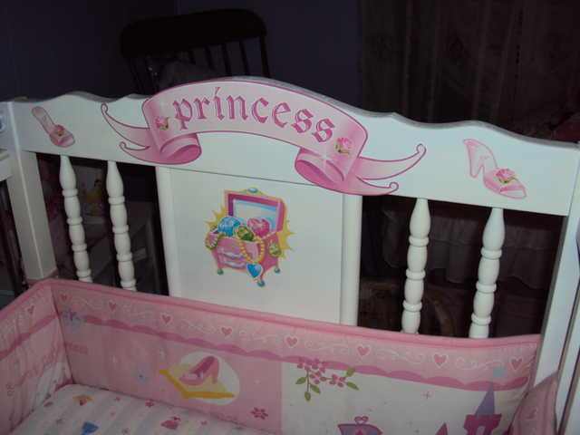 Princess Decorated Baby Crib