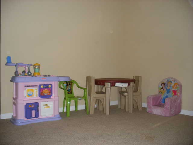 Kids Play Kitchen Set And Dining Table Set - $250