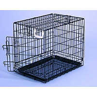 General Cage Wire Folding Black Dog Crate - 1 Door