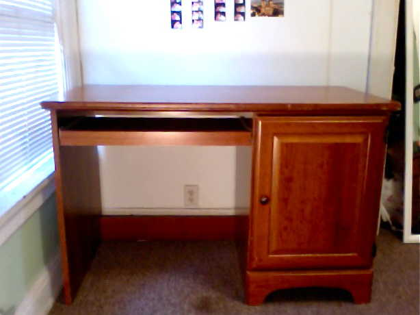 Nice Hardwood Desk For Sale