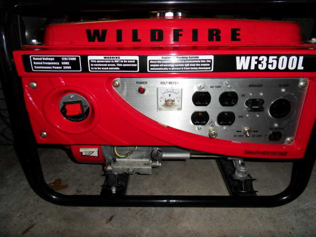 Wildfire Wf3500l Generator - Never Used - Moving Sale!