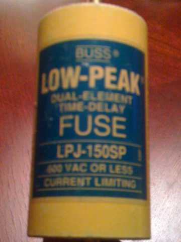 Cooper Bussmann Fuse, Low - Peak, Dual - Element, Time - Delay Fuse, Lp