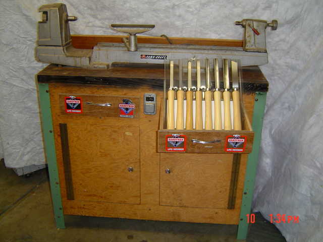 wood lathe used