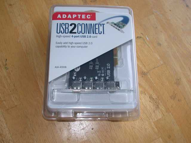 Brand New Adaptec Aua - 4000b Pci To Usb Card For Pc / Mac $5
