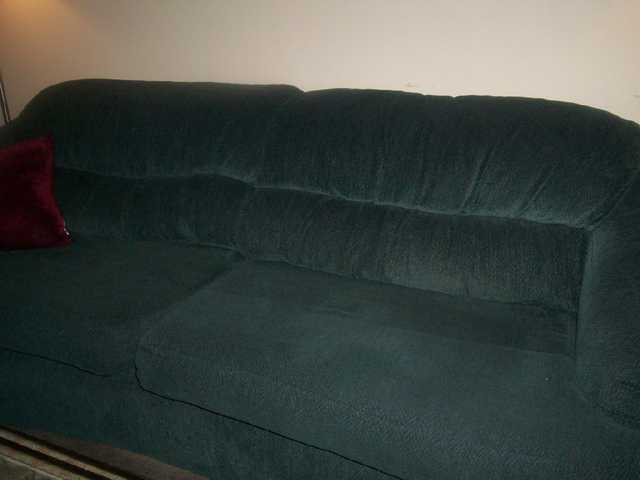 Beautiful Forrest Green Couch And Love Seat