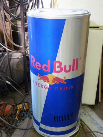 Giant Redbull Can Fridge