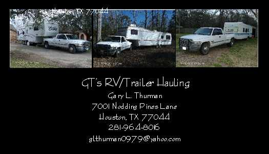 Gt's Rv / Trailer Hauling Moving