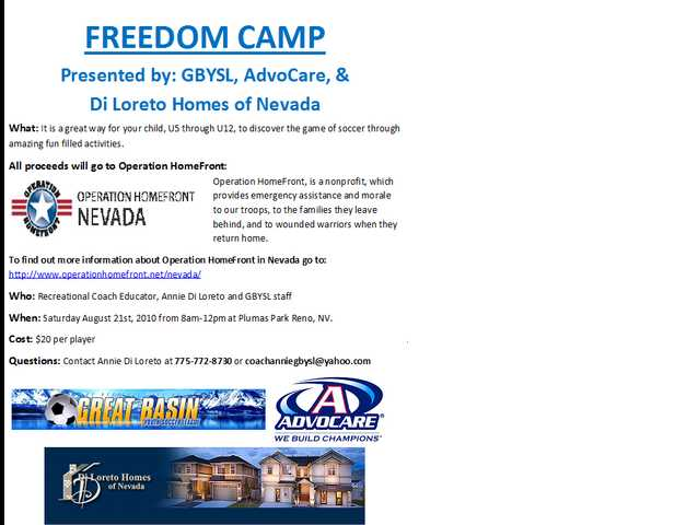 Freedom Soccer Camp