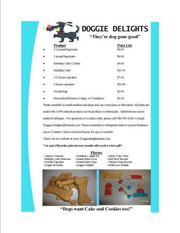 Home Made Dog Treats From Doggie Delights!