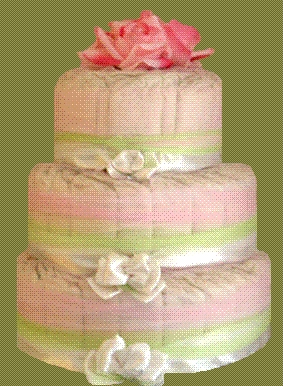 Elegant & Eco - Friendly Diaper Cakes