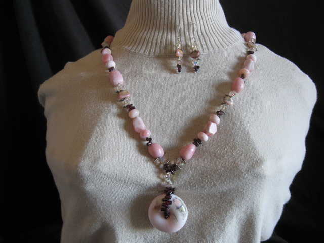 Natural Stone Jewelry - Pink Opal Delight