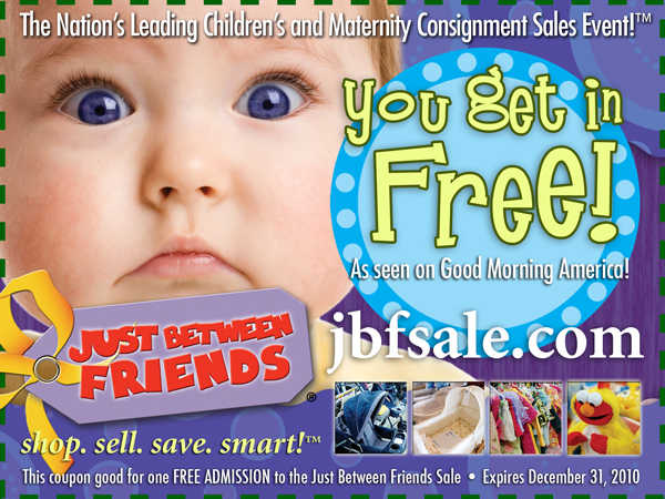 Just Between Friends Childrens & Maternity Consigment Sales Event