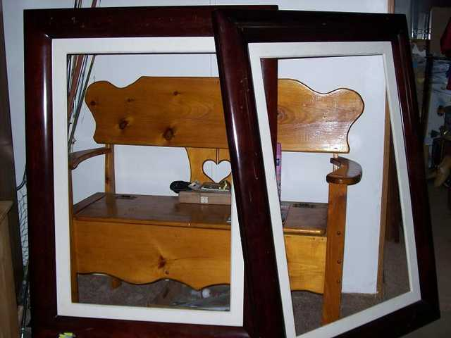 I Sell Two Frames Made Of Mahogany