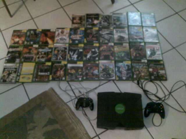 Xbox W / 2 Controllers And Over 35 Games! - $325