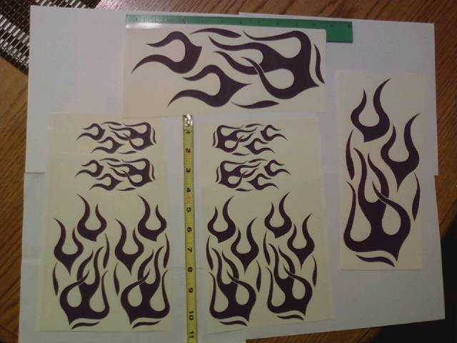 Hot Purple Flame Graphics Kit