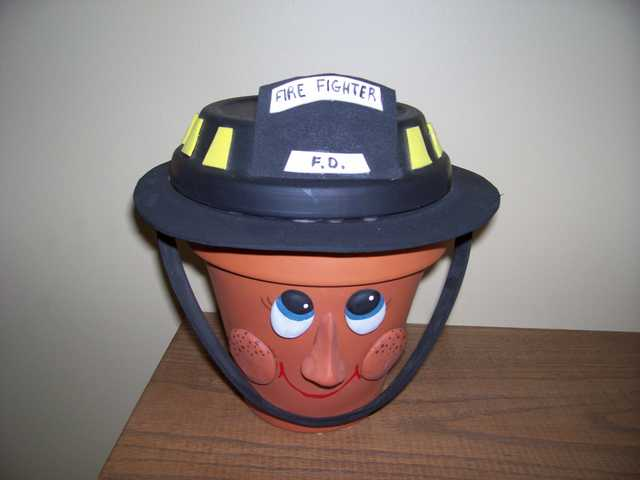 Firefighter Stand, Flower, Bank, Decoration, Jewelry Holder, Pigg