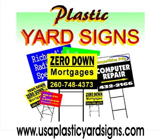 Plastic Yard Signs In 24 Hours.