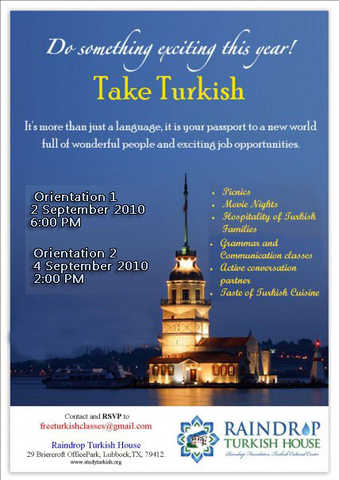 Free Turkish Class (Orientation 2&4 September 2010), Lbb