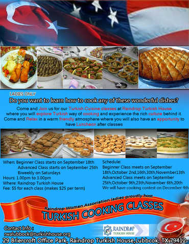 Turkish Cuisine Classes $5 For Each Class Lbb