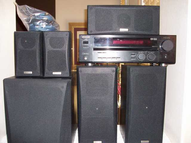 Kenwood Reciever And 5 Speaker Surround And Subwoofer