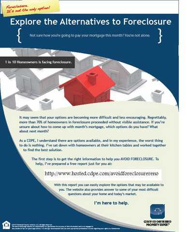 Avoid Foreclosure!