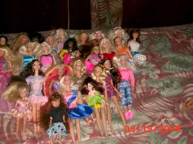 Lot Of Barbies.