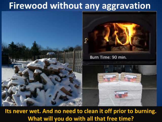 Firewood With No Splitting, No Bugs, Always Dry - Liberty Brick