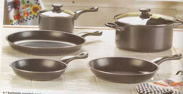 Seven Piece Chef's Set Of Graphite Black Cookware