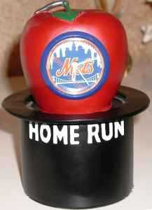 Rare Ny Mets Home Run Apple Clock