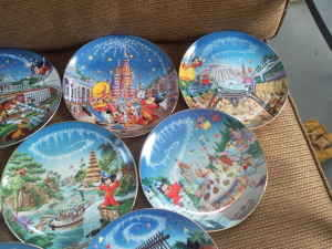 Disney Plates (25th Anniversary, And Christmas Carol)