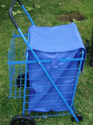 Large Shopping Carts, Bonus Basket And Liner